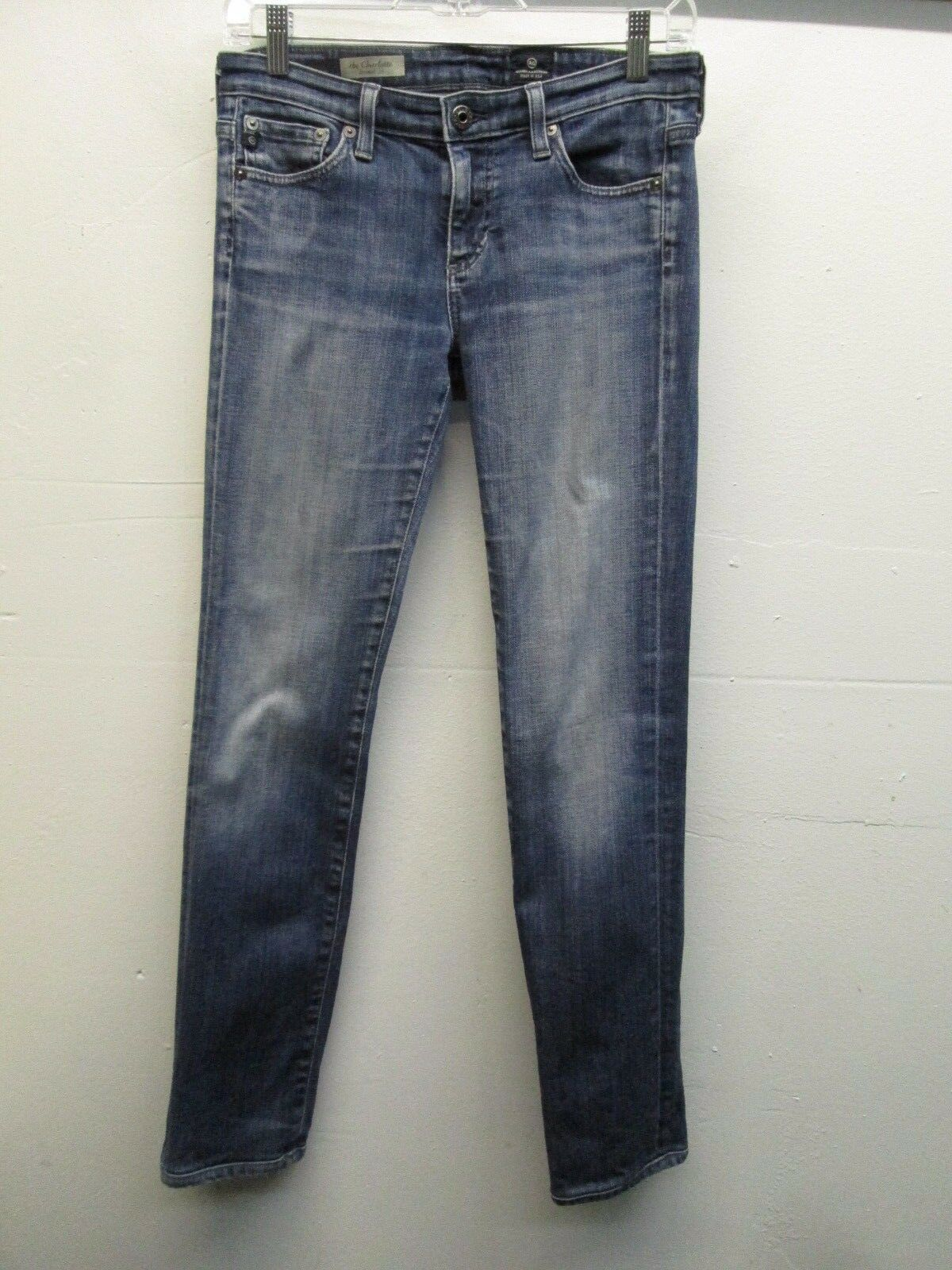 Adriano goldschmied the Charlotte straight leg bluee jeans size 28R (30 29) EUC