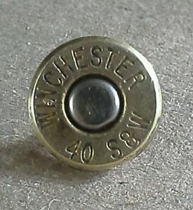 .40 Caliber Bullet Lapel Pin. Unique un-dented primer! Most calibers available