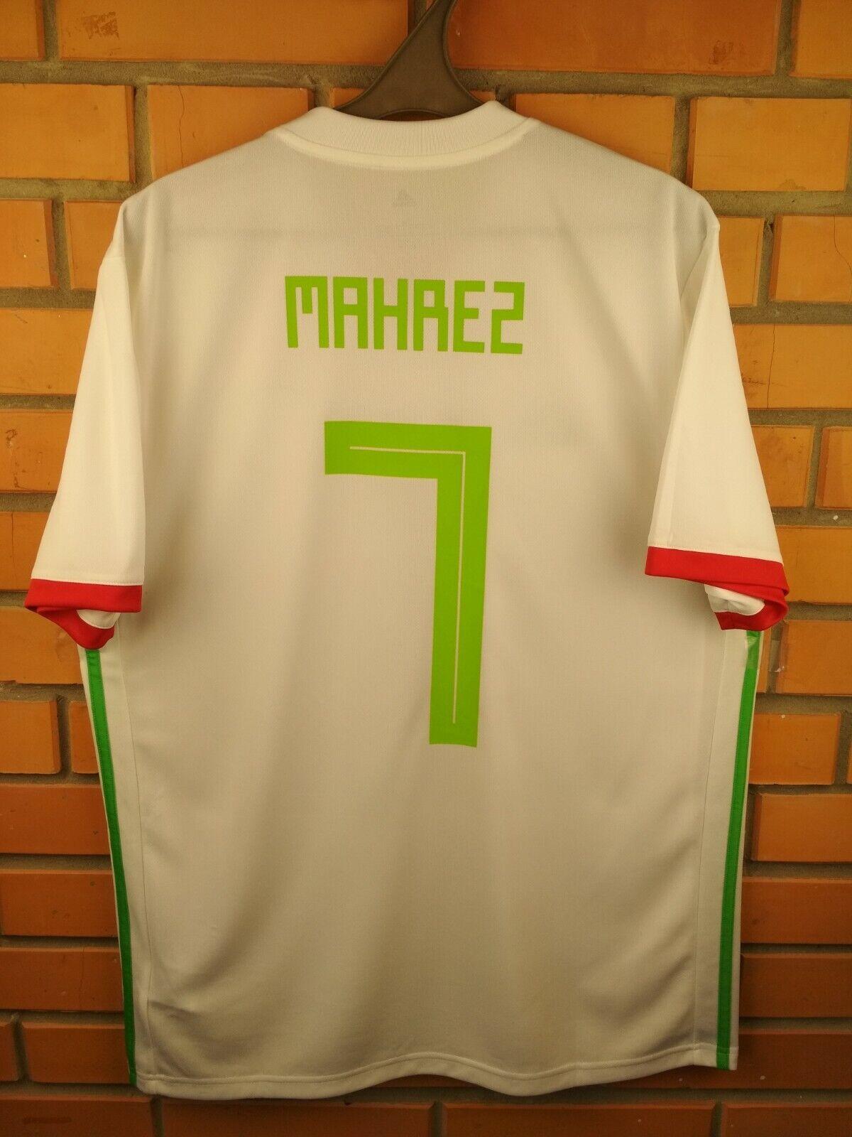 Mahrez Algeria jersey large 2018 home shirt BQ4519 soccer football Adidas
