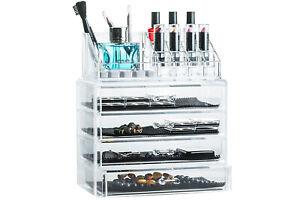 Organizer cosmetici box portatrucco portagioie 4cassetti 16scomparti make-up NEW