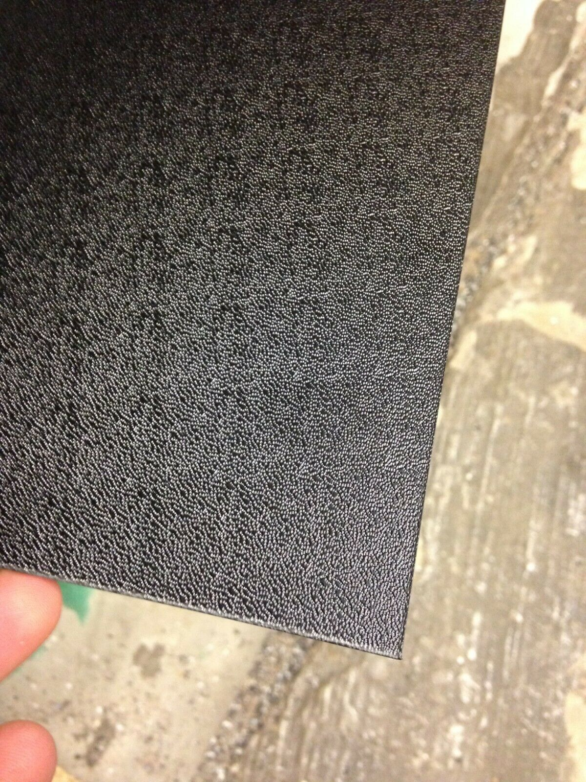 3mm Black Pinseal Textured Finish ABS Plastic Sheet 1000mm x 600mm
