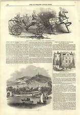 1845 Orloff Horses  Droshky Fisher House Islington First Steamer Windermere