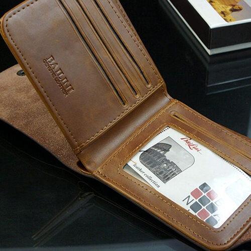Lk /_ Eg /_ Uomo Moda Portafogli in Cuoio Carta Soldi Custodia Slim Moneta Pur