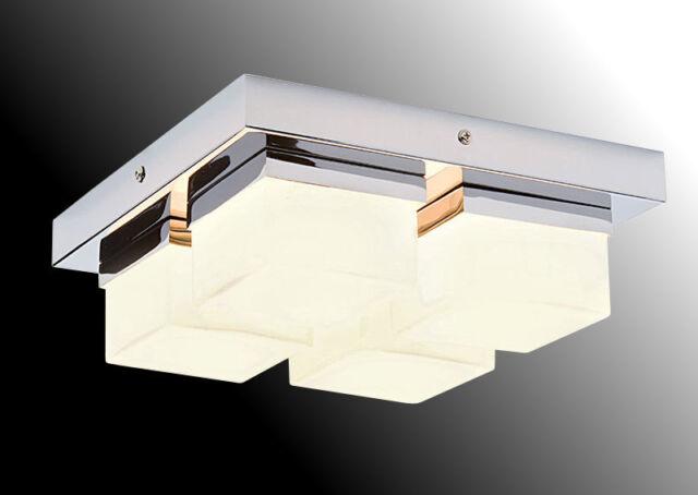 4 Light Bathroom Ceiling Pendant Saxby Pure 34277 Chrome Opal