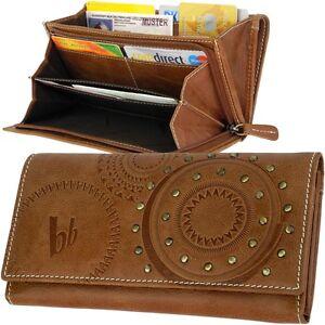 BRUNO-BANANI-Damen-Brieftasche-Sterne-Motiv-Geldboerse-Portemonnaie-Geldbeutel