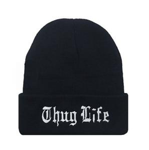 New Fashion Men Women Winter Hip Hop Punk Thug Life Beanie Hats Knitting Weave