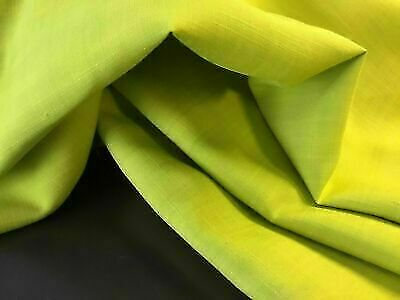 "NEW Designer Olive Green Linen Fabric 51/"" 131 cm Garment Art Craft Suiting Clot"