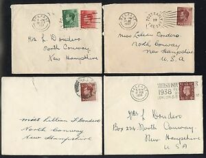 10 BELFAST COVERS 1930s-1940, MOSTLY DIFFERENT CANCELS