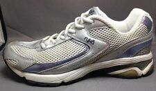 Ryka Walking Shoes 7 Womens Radiant OrthoLite Sneakers Silver Metallic Purpl Wht
