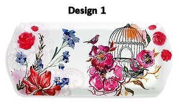 Floral Bird Design 39x17cm Melamine Serving Tray