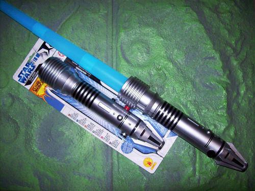 JEDI Plo Koon LASERSCHWERT blau LICHTSCHWERT Star Wars LEUCHTSCHWERT mit LICHT