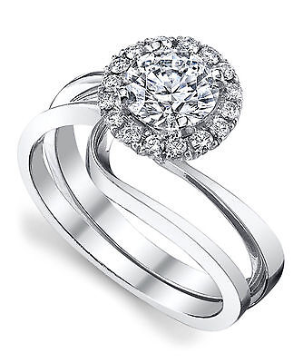 Jewellery & Watches Fine Rings Purposeful 14k Solid White Gold Ring 0.51 Ct Diamond Solitaire Engagement Ring Size M N K I