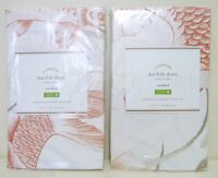 Pottery Barn Koi Fish Organic Standard Shams, Set Of 2,