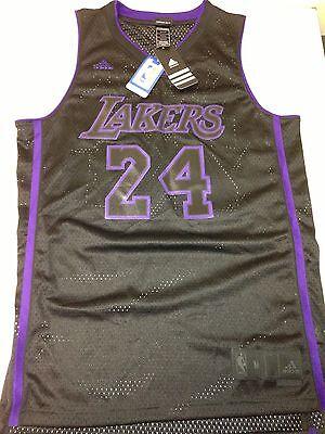 Kobe Bryant Authentic Adidas Mesh Jersey Lakers Limited Edition Black& Purple XL | eBay
