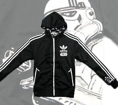 Détails sur Adidas Originals Star Wars Stormtrooper Track Top Sweat À Capuche Veste XXL double XL. afficher le titre d'origine