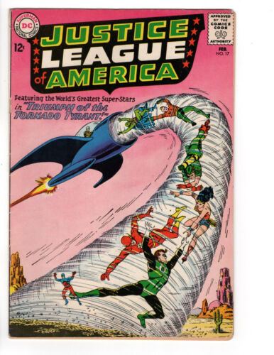 "JUSTICE LEAGUE OF AMERICA #17 Grade 5.0 ""The Triumph of the Tornado Tyrant!"""
