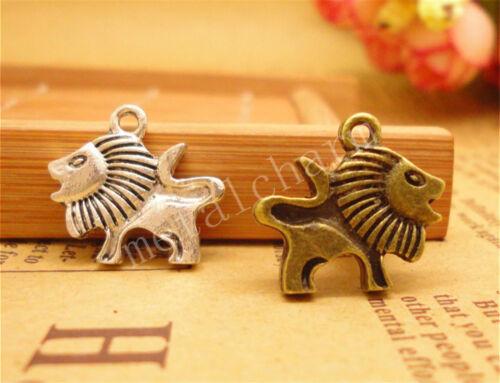 40//200pcs Lot DIY Tibetan Silver Lovely Mini lion Charm Pendant 15x13mm A813S