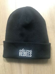 Image is loading Rules-Create-Rebels-Black-Beanie-Hat-Cap 9a52fb8c5d1