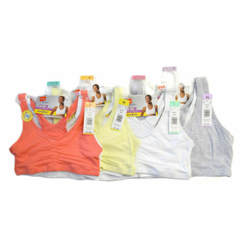 Hanes H370 Sports Bra Two pack Mystery We Pick You Save In Sizes Small-2XL