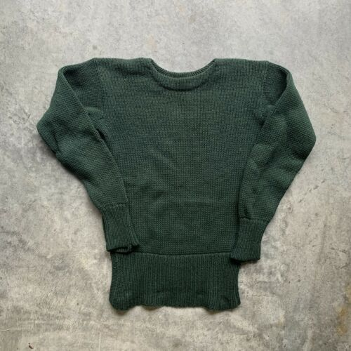 Vintage 30s 40s Green Knit Boat Early Old Sweater