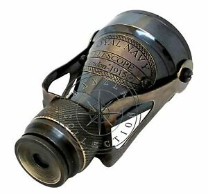 Antique Brass Binocular Maritime Vintage Columbus Nautical Spyglass Telescope