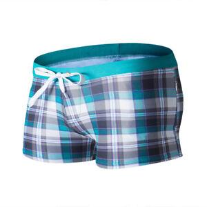 Men-039-s-Swim-Trunks-Boxer-Shorts-Pocket-Tether-Surf-Board-Beach-Swimwear-Swimsuit