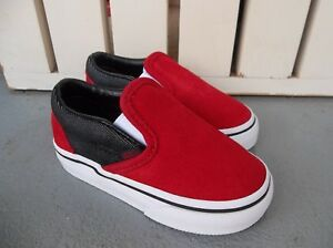 39b49e0404 Details about NWT VANS BOYS TODDLER CLASSIC SLIP ON SUEDE/SUITING  SNEAKERS/SHOES.SIZE 5.2019