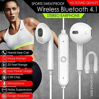 Ear Palestra Cuffie UK 4 In 1 da Sport Auricolare NUOVO Bluetooth sweatproof Mic Wireless q0wn7gA