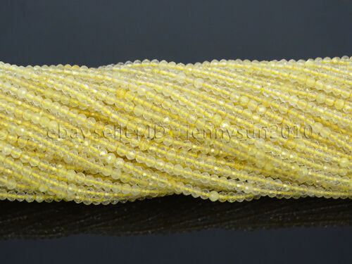 Grade AAA Brilliant Cut Shining Natural Gemstones 2mm~2.7mm Faceted Round Beads