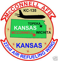 Usaf Base Patch, Mcconnell Afb Kansas, 22nd Air Refueling Wing Y