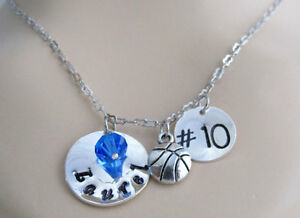 67ad9c64a2f2 Image is loading Personalized-BasketBall-Coach-Gift-Player -Number-Necklace-Girls-