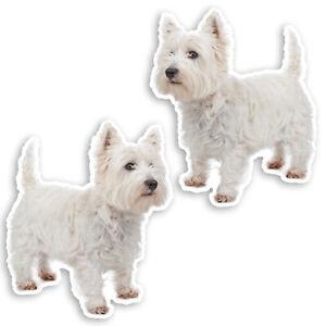 2-x-10cm-West-Highland-White-Terrier-Vinyl-Stickers-Westie-Dog-Sticker-34930