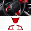 3PCS Red ABS Inner Steering Wheel Cover Trim Fit For Toyota Camry 2018 2019