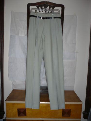 1940s/50s high-waist drop-belt loop gabardine Holl