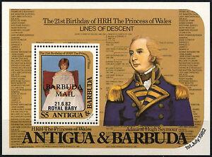 Barbuda 1982 SG#MS635 Royal Baby MNH M/S Sheet #D42329