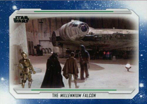 Star Wars Skywalker Saga Blue Base Card 49 The Millennium Falcon