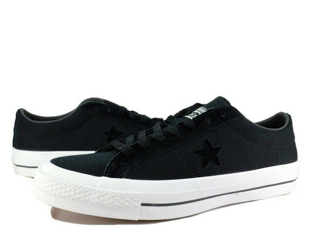 fc66f384724b Converse Cons One Star Canvas Ox Black White Suede Mens Casual Shoes  153710C 9 for sale online
