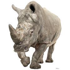 WHITE RHINOCEROS CARDBOARD CUTOUT Standee Standup Poster Prop Rhino FREE SHIP