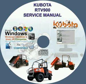Kubota-UTV-RTV-900-Service-Manual-RTV900-on-CD