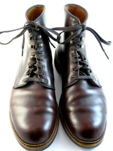 Allen-Edmonds-034-HIGGINS-MILL-034-Boots-11-5-D-Chromexcel-Leather-Brown-USA-552