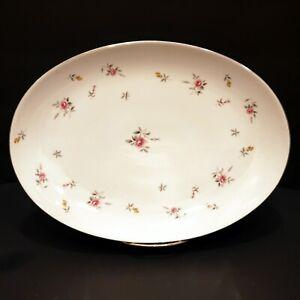 Vintage-Lovely-Fine-China-Of-Japan-Lorraine-Oval-Serving-Platter-3926