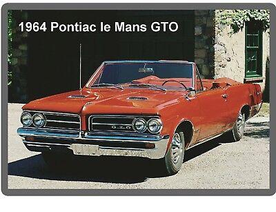 Tool Box  Magnet 1964 Pontiac Grand Prix Auto Refrigerator