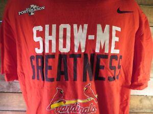 Show-Me-Greatness-NIKE-St-Louis-CARDINALS-2013-T-Shirt-Size-XL