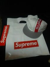 f844c3be85a item 2 Supreme Hat Striped Camp Cap Adjustable Six Panel White Red Grey 100%  Authentic -Supreme Hat Striped Camp Cap Adjustable Six Panel White Red Grey  ...