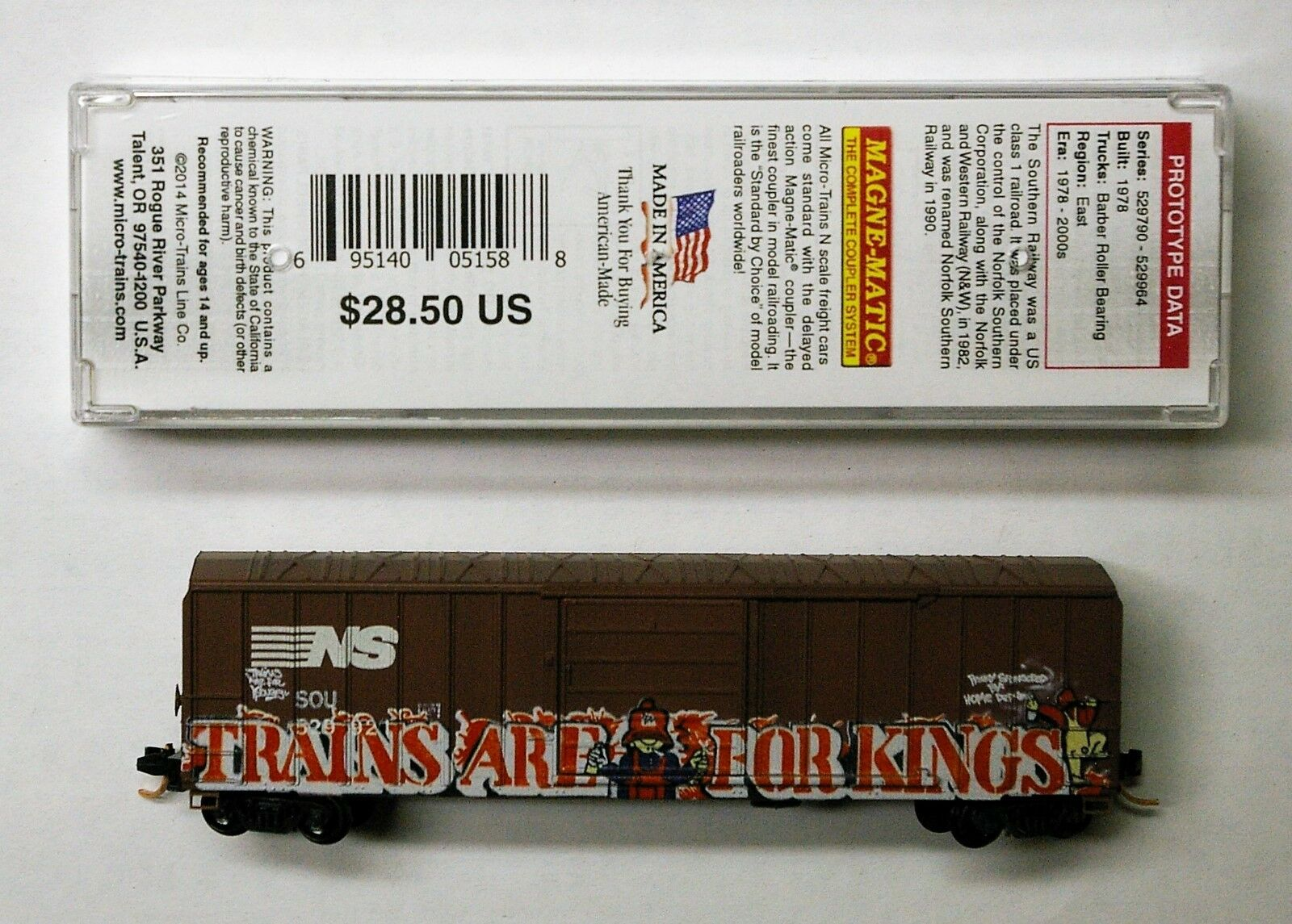 MTL Micro-Trains 25800 NS 529921  Trains are for Kings   FW