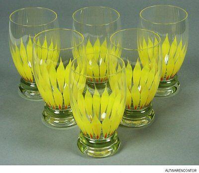 6 SaftglÄser Theresienthal WasserglÄser Wasser Glas Sunflower MeisterglÄser