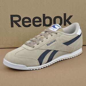 Reebok Royal CL Rayen Herren Sneaker Suede Leder Schuhe Beige V67196