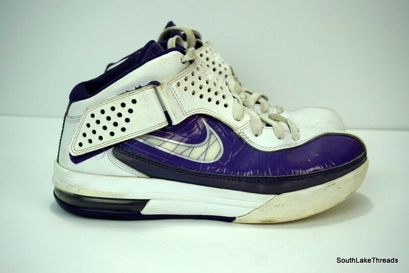 Nike Air Max Lebron James Soldier V White / Purple LA Lakers Men's Comfortable The latest discount shoes for men and women