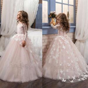 Constructif Fleur Fille Robes Pageant Kids Anniversaire Mariage Demoiselle D'honneur Formelle Parti Robe-afficher Le Titre D'origine