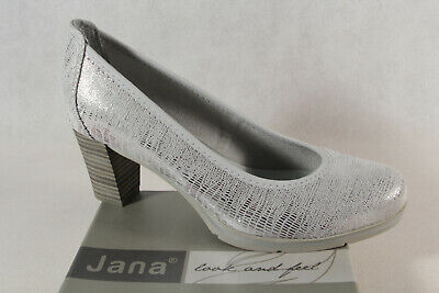 Soft Line by Jana Damen Pumps Slipper Ballerina grau Weite H NEU!